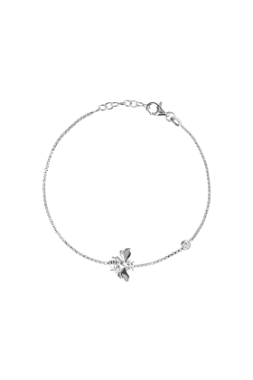 Rhodium Plated Queen Bee Bracelet