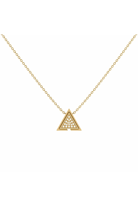 14kt Yellow Gold Plated Skyscraper Triangle Necklace