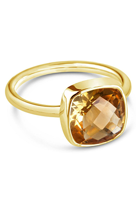 Citrine Cocktail Ring/ Gold