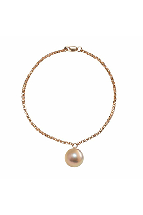 14kt Yellow Gold Pink & Gold Pearl Alba Bracelet