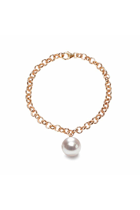 14kt Yellow Gold & White Pearl Magna Bracelet