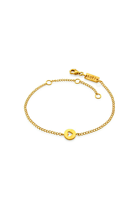 Yellow Gold Plated Total Eclipse Of The Heart Bracelet