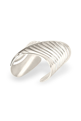 Sterling Silver Cut-Out Sharch Bangle