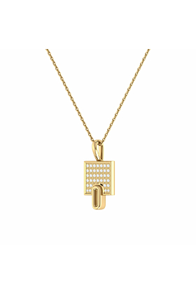 14kt Yellow Gold Plated Sidewalk Pendant