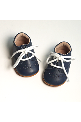 Baby and Toddler Boys Navy Booties