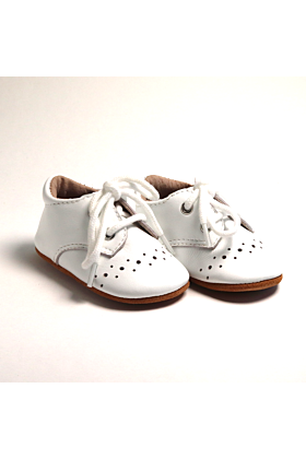 Baby and Toddler Boys White Booties