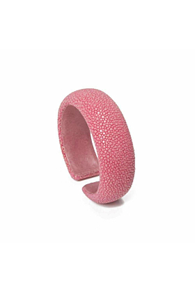 Samba Hot Pink Stingray Leather Bangle