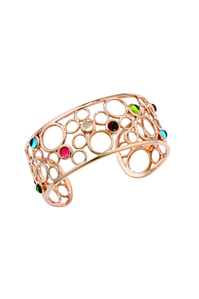 Pimlico Bubble Rose Gold Multi Gem Cuff Bangle
