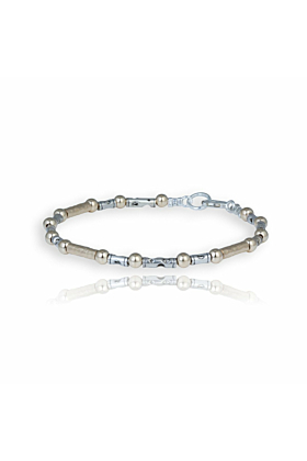 Gold & Sterling Silver Contemporary Bracelet