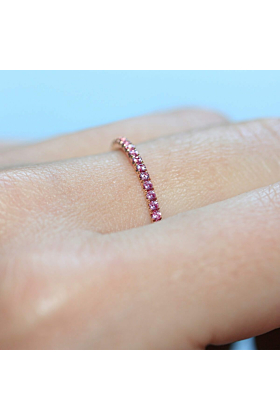 18kt Rose Gold Pink Sapphire Full Eternity Ring
