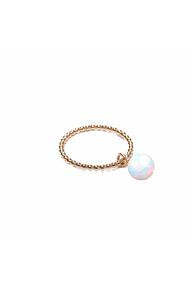 14kt Yellow Gold Plated Opal Orb Ring
