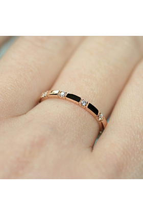 18kt Rose Gold 10 Stone XX Diamond Ring