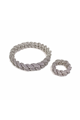 Goddess Link Twist Bracelet Thin