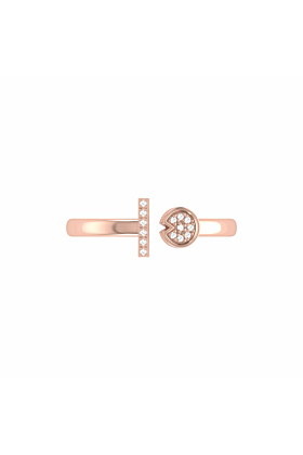 14kt Rose Gold Plated Pac-Man Lane Ring