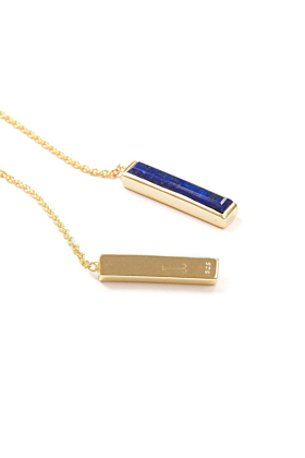 18kt Yellow Gold Vermeil Urban Chain Earrings With Lapis Lazuli