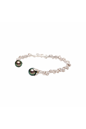 Silver Palm Berries Cuff
