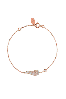 Rose Gold Plated Small Angel Wing Bracelet
