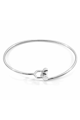 Hardy Buckle Midi Geometric Silver Bangle