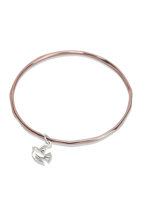 Bird Bangle Rose Gold