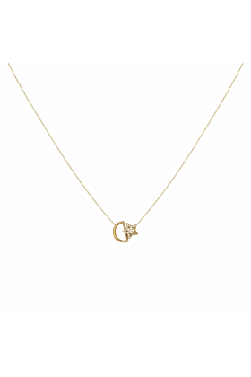 14kt Yellow Gold Plated Starkissed Moon Necklace