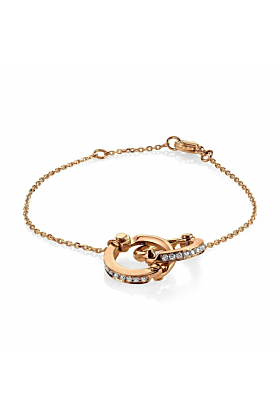 Handcuff Chain Bracelet in Rose Gold