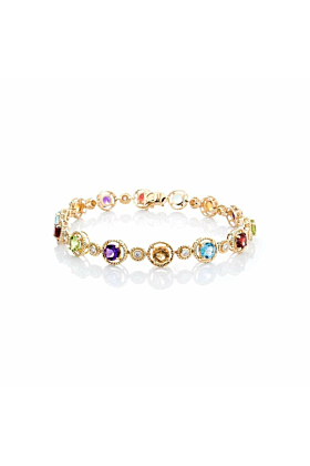 Multi-Coloured Gemstone Bracelet