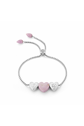 Luv Me Phosphodorite Adjustable Heart Bracelet