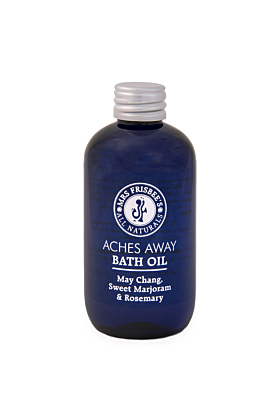 Aches Away Bath Oil with May Chang, Rosemary & Sweet Marjoram Essential Oils