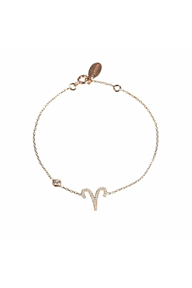 Aries Zodiac Bracelet Rose Gold