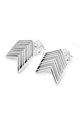 Art Deco Arrow Studs