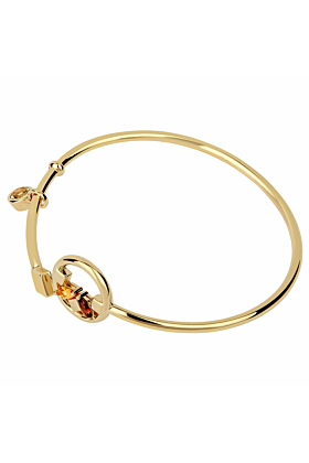 14kt Yellow Gold Plated Sterling Silver Citrine Heroic Bracelet