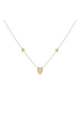 14kt Yellow Gold Plated Raindrop Necklace