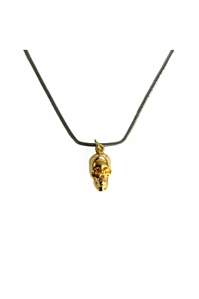 Gold Lonely Skull Pendant