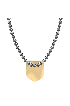 Made In Britain Necklace - 9kt Yellow Gold Vermeil Classic Shield