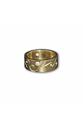 9kt Yellow Gold Women's Arcticos Ring