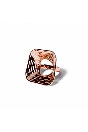 14kt Rose Gold Plated Air Ring