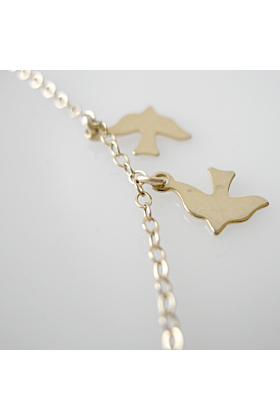 14kt Gold Filled Delicate Bird Charm Necklace