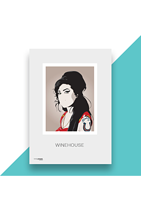 Amy Winehouse Hand and Digitally Drawn Poster