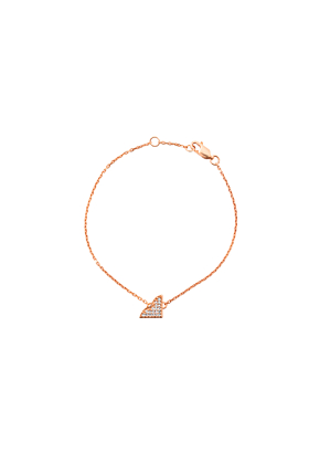 Rose Gold Plated Silver Ardour Diamonds Vermeil Bracelet