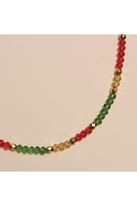 22kt Gold Plated Assyrian Glass Necklace