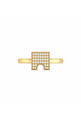 14kt Yellow Gold Plated City Arches Ring