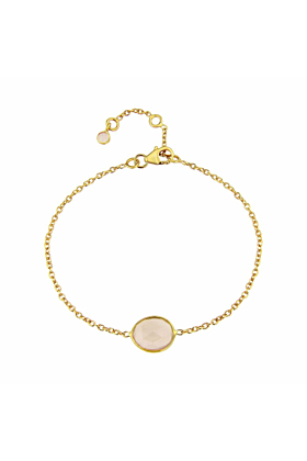 Yellow Gold Plated Cuvette Gemstone Bracelet