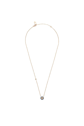 Rose Gold Plated Silver Evil Eye Necklace