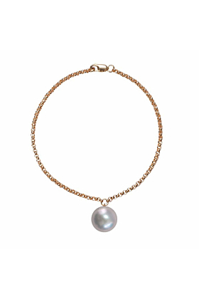 14kt Yellow Gold Plated & Grey Pearl Alba Bracelet