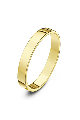 18kt Yellow Gold Heavy Flat Wedding Ring