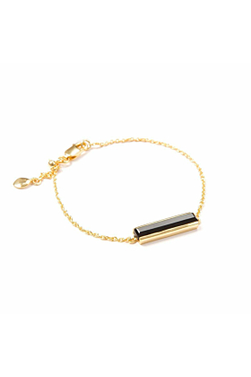 18kt Yellow Gold Vermeil Urban Bracelet With Black Onyx