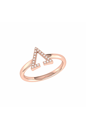 14kt Rose Gold Plated Aim High Ring