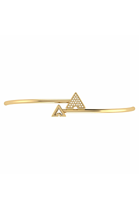 14kt Yellow Gold Plated Skyscraper Roof Bangle