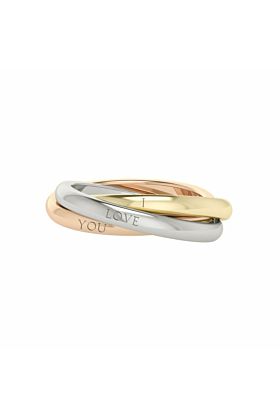 Willow Russian Rings 9kt Multi-Gold