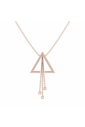 14kt Rose Gold Plated Silver Skyline Lariat Necklace